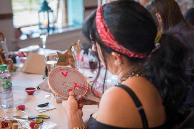 Prashad embroidery craft workshop Elnaz Yazdani