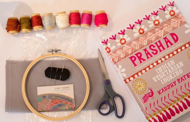 Prashad Indian restaurant craft emrnoidery workshop Elnaz Yazdani