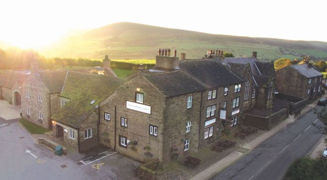 The White Hart at Lydgate pub restaurant with rooms