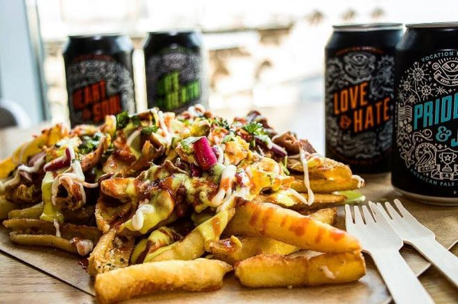 Slap & Pickle's loaded fries Assembly underground food and drink venue Leeds Great George Street