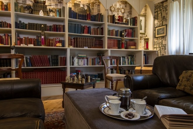 Augill Castle library