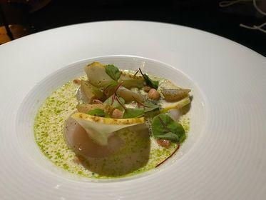 Scallop sashimi Josh Whitehead Harewood Food and Drink Project