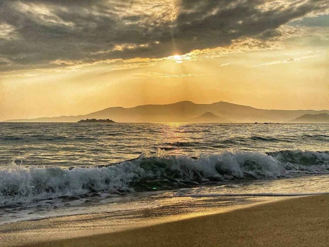 Naxos Greece Cyclades Plaka beach sunset Naxian On The Beach